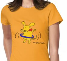 Yellow Dog Blue Hoop Womens Fitted T-Shirt