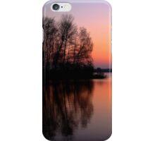 reflection sunset iPhone Case/Skin
