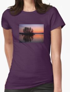reflection sunset Womens Fitted T-Shirt