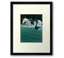 The Mermaid and the Unicorn Framed Print