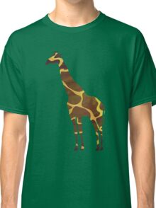Giraffe Brown and Yellow Print Classic T-Shirt
