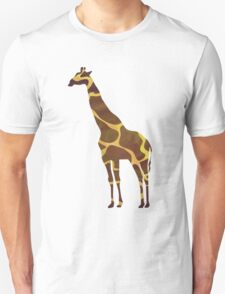 Giraffe Brown and Yellow Print T-Shirt