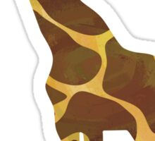 Giraffe Brown and Yellow Print Sticker