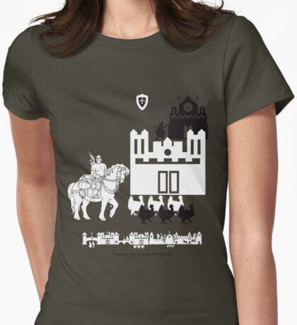 Waiting for a knight Womens Fitted T-Shirt