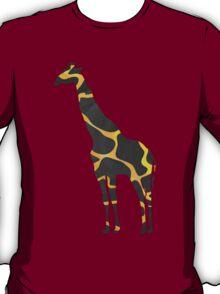 Giraffe Black and Yellow Print T-Shirt