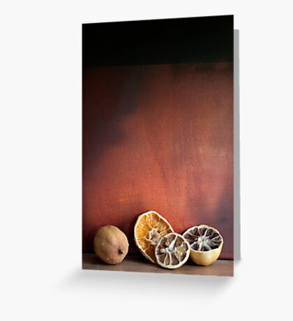 Still life Dried fruit Greeting Card