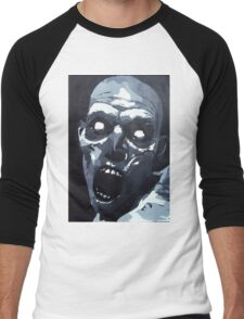 Hungry Zombie- Abstract Zombie Painting Men's Baseball ¾ T-Shirt