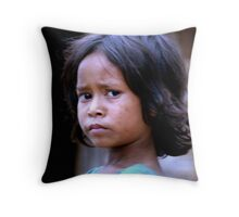 Balinese Girl Throw Pillow