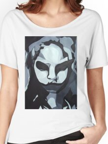 Sinister Zombie- Zombie Girl Painting  Women's Relaxed Fit T-Shirt