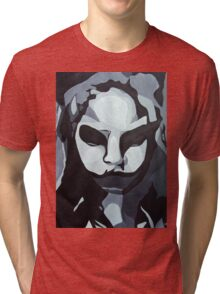 Sinister Zombie- Zombie Girl Painting  Tri-blend T-Shirt