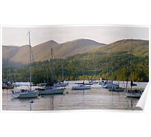 The Lake District: Cruising on Lake Windermere Poster
