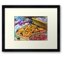 Produce In Pencil Framed Print