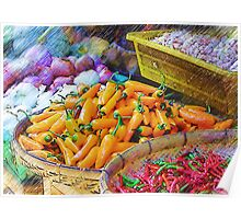 Produce In Pencil Poster