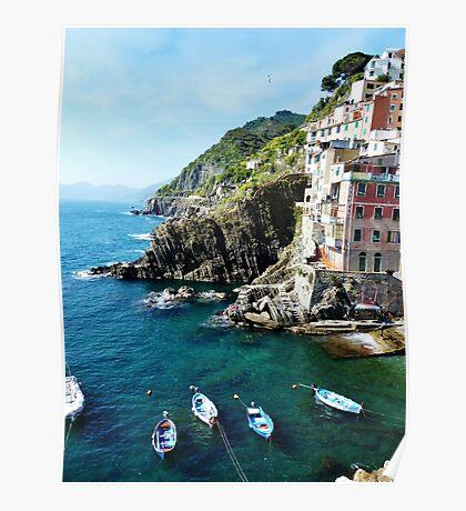 Riomaggiore Boats Poster