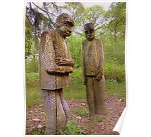 The Lake District: Grizedale Forest Sculptures Series - Private Meeting Poster