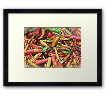 Chili's In Pencil Framed Print