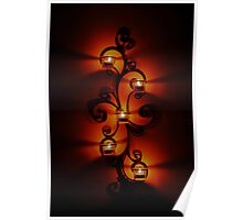 Abstract Candles Poster
