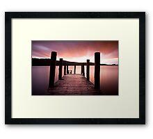Derwent Jetty Framed Print