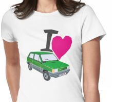 i love panda Womens Fitted T-Shirt