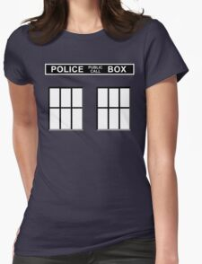 Police Public Call Box - Tardis  Womens Fitted T-Shirt