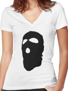 Criminal Concept 2 | Two Women's Fitted V-Neck T-Shirt