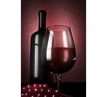Wine and grapes Photographic Print