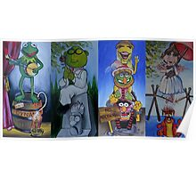 Muppets Haunted Mansion Stretching Room Portraits Poster