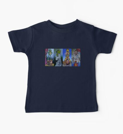 Muppets Haunted Mansion Stretching Room Portraits Baby Tee