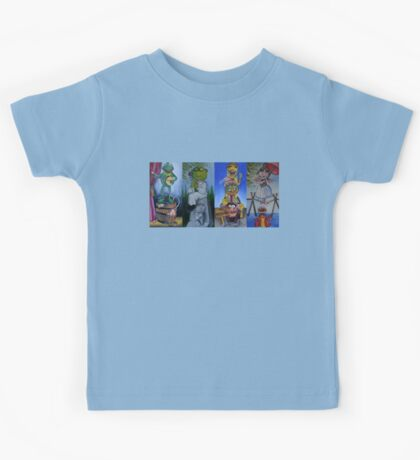 Muppets Haunted Mansion Stretching Room Portraits Kids Tee