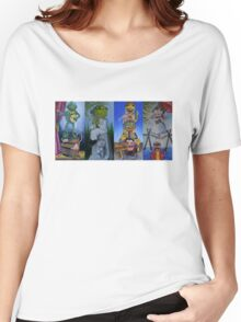 Muppets Haunted Mansion Stretching Room Portraits Women's Relaxed Fit T-Shirt