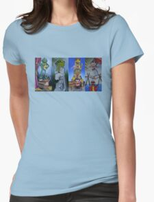 Muppets Haunted Mansion Stretching Room Portraits Womens Fitted T-Shirt