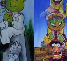 Muppets Haunted Mansion Stretching Room Portraits Sticker