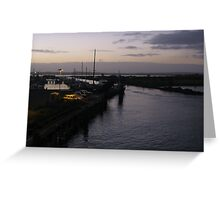 Dusk over the Creek Greeting Card