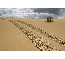 Tracks in Sand Photographic Print