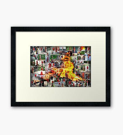 Copenhagen Afire Framed Print