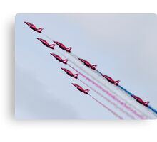 Red Arrows - 2015 Display Tails Canvas Print