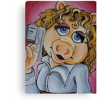 Miss Piggy, Professor River Song Canvas Print