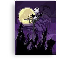 Halloween Skinny Ghost Canvas Print