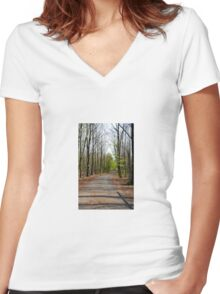Path Women's Fitted V-Neck T-Shirt