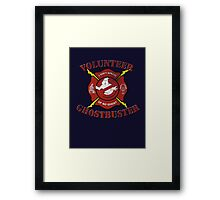 Volunteer Ghostbusters Framed Print