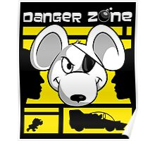 Danger Zone - yellow Poster
