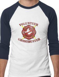 Volunteer Ghostbusters Men's Baseball ¾ T-Shirt