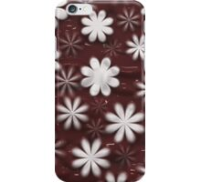Melted Chocolate and Milk Flowers Pattern iPhone Case/Skin