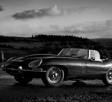E Type Jaguar in Mono by Matthew Walters