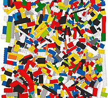Lots of Coloured Toy Bricks (Lego) by Martin Lucas