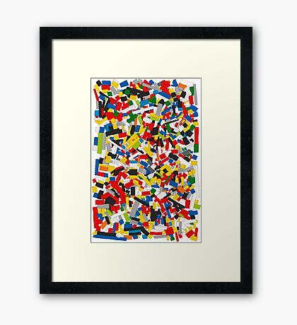 Lots of Coloured Toy Bricks (Lego) Framed Print