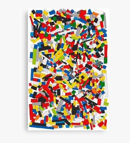 Lots of Coloured Toy Bricks (Lego) Canvas Print