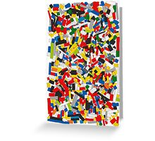 Lots of Coloured Toy Bricks (Lego) Greeting Card
