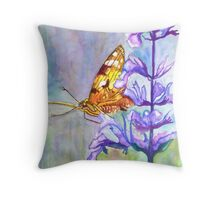 PAINT THIS PHOTO ! - PAINTED LADY (challenge) Throw Pillow