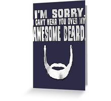 Awesome Beard Greeting Card